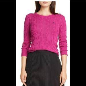 Polo Ralph Lauren Cable Knit Jumper Sweater Medium